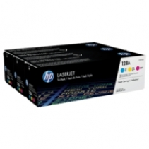 HP 128A C/M/Y Toner Value Pack